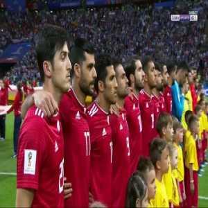 Iran vs Spain - Anthem of the teams