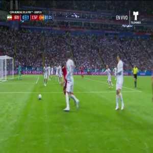 Mehdi (Iran) missed chance vs. Spain