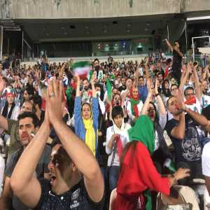 [Open Stadiums] Women and families finally allowed into Azadi Stadium after 37 years of being banned, to watch Iran vs Spain on screen.