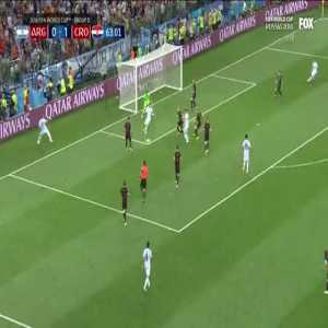 Argentina poor shot on a clear goalscoring opportunity