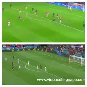 Modric's similar goals(vs argentina 2018 and man utd 2013)