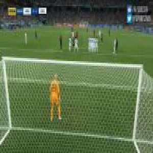 Rakitic hits the cross bar from a great Free Kick Vs Argentina