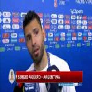 "When asked about Sampaoli's quote of the players failing to adapt to the game plan, Agüero has just said in the mixed zone: ""Let him say what he wants"""
