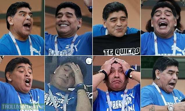 Diego Maradona's night as Argentina are crushed by Croatia