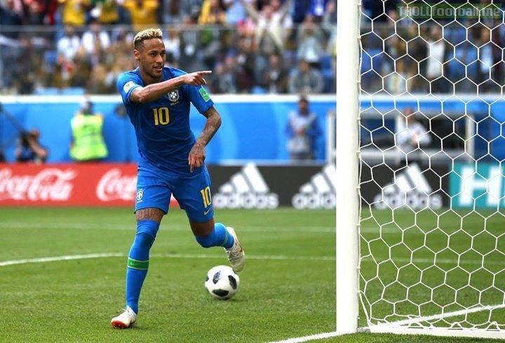 Neymar is now the 3rd all-time top scorer for Brazil 🇧🇷  Pelé (77) Ronaldo (62) Neymar (56) Romario (55)  WorldCup