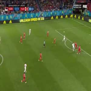 Offside not given resulting in a great scoring chance for the Swiss