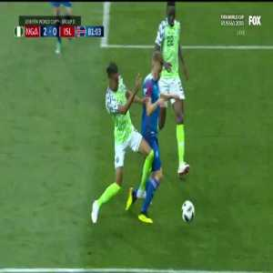 VAR overturns call on the field, penalty awarded to Iceland
