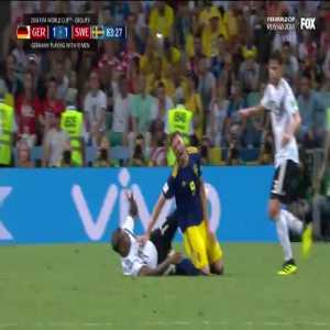 Boateng sent off after a harsh tackle from behind