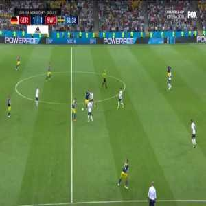 Fouls by Swedish defenders on Muller and Werner