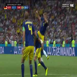 Great save from the Swedish goalkeeper