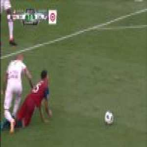 Horror tackle by Daniel Royer and resulting red card: New York Red Bulls vs FC Dallas