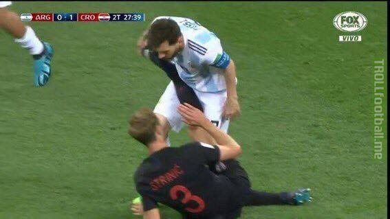 """Ivan Strinic (Croatia):   """"Messi? He has this image where he pretends to be nice and humble but he's totally the opposite, not only did he hit me, but when his friend (Ivan Rakitic) was down injured he refused to kick the ball out despite being the captain."""""""