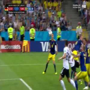 Neuer slips and barely recovers to make the save for Germany