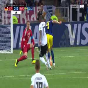 Penalty not given to Sweden after Boateng shove in the back