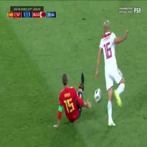 Amrabat yellow card for giving Sergio Ramos a flat tire