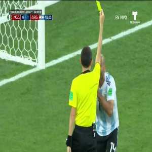 Javier Mascherano penalty foul vs. Nigeria