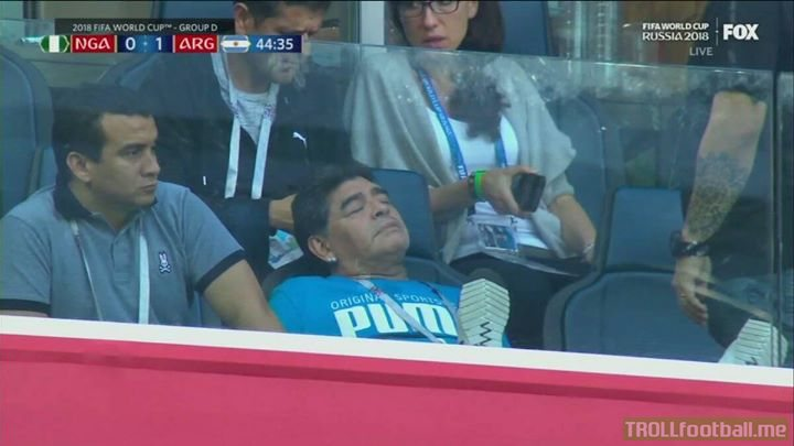 MARADONA Is Sleeping!😂😂😂
