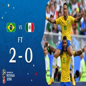 Brazil have qualified for the 2018 FIFA World Cup quarter-finals. Mexico eliminated.