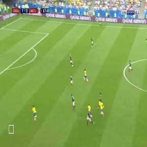 Roberto Firmino Goal - Brazil 2 vs 0 Mexico ( English )
