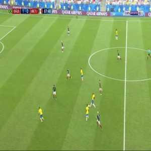 Roberto Firmino Goal - Brazil 2 vs 0 Mexico ( French )