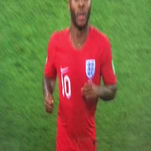 Colombian Coach Elbows/Barges Sterling as He Comes off the Pitch for HT
