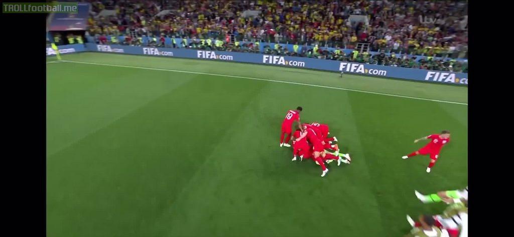 Harry Kane's celebration of Eric Dier's winning penalty
