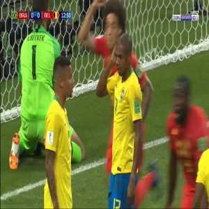 Brazil 0-1 Belgium - Fernandinho OG 13'
