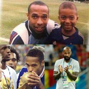 Casillas on Twitter: Football, no more! A young Mbappe takes a picture with one of his childhood idols: Henry. The latter wins the World Cup with France 20 years ago. Today, if you win your country, you have access to Belgium in the final. The laps that gives life and, in this case, football!