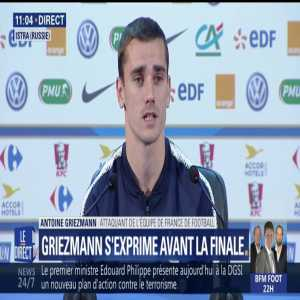 "Griezmann in press conference ""I was the best scorer at Euro 2016 and we lost, so I tried to score as little as possible to see if we win this time"""