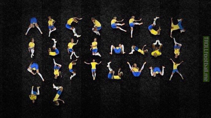 The Neymar alphabet