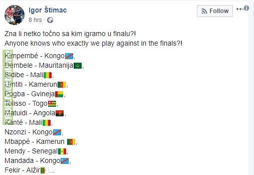 Ex-Croatian Manager posted this in Facebook