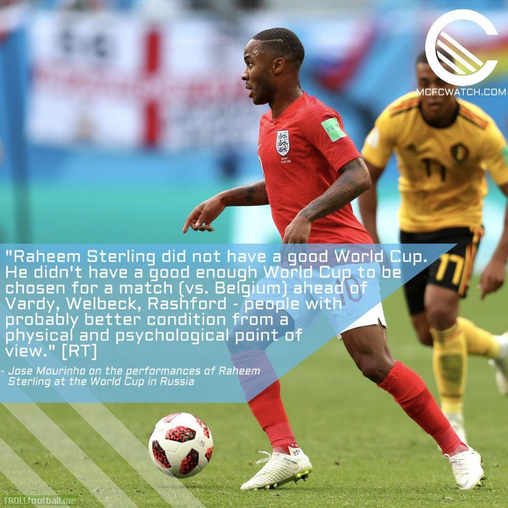 Mourinho on Sterling's World Cup