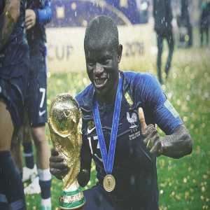 According to various reports, during France's on-pitch trophy celebrations, Steven N'Zonzi had to ask certain players to let N'Golo Kanté hold the #WorldCup trophy because he was too shy to ask & didn't want to impose on anyone. [@GFFN]