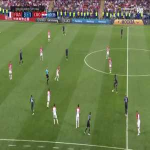 Brilliant play from France ending with a bicycle kick pass from Giroud to Griezmann.