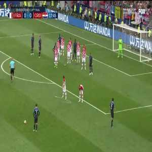 France 1-0 Croatia - Mandžukić 18' [2018 World Cup Final]