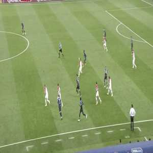 Pogba's crazy pass to set up the counter attack for France's third goal