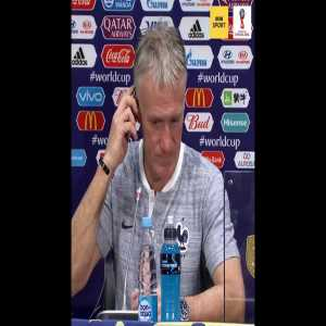 The French team ambush Didier Deschamp's press conference