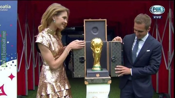 World Cup 2018 Trophy Presented By Philip Lahm..😍🔥