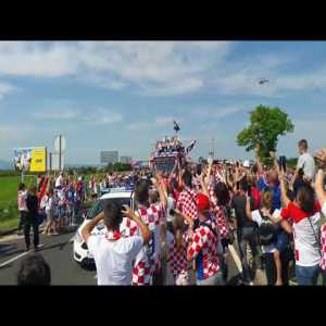 Airport Welcome for Croatian Football Team WC2018