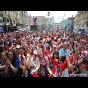 Live broadcast of the Croatian team welcome