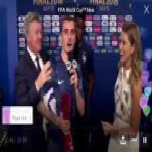 "Griezmann interrupts Pogba interview to say ""I love Derrick Rose"""