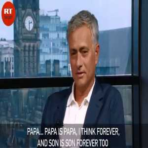 'He is my son forever': Papa Mourinho & Kid Drogba don't hide their feelings on air (Watch till the end)