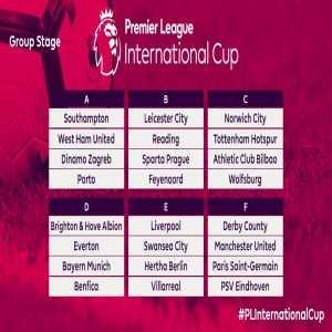 Premier League u-23 International Cup Draw