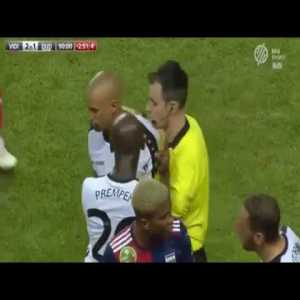 "Bryan Melisse ""Drop Kicks"" Opposing Player And Receives Red Card"
