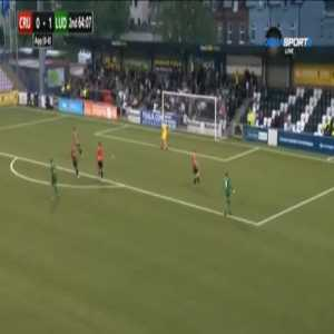 Crusaders 0-2 Ludogorets [0-9 on agg.] - Jakub Swierczok 65'