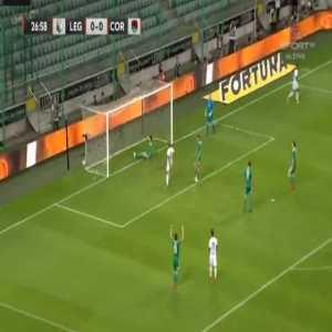 Legia 1-0 Cork City [2-0 on agg.] - Kante 28'
