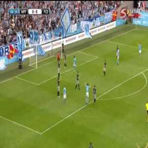 Malmö FF 1-0 Drita [4-0 on agg.] - Carlos Strandberg 55'