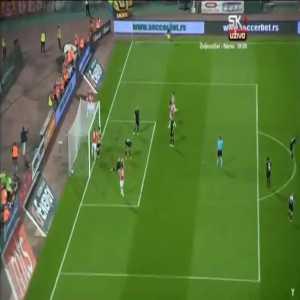 Red Star Belgrade 2-0 Spartaks [2-0 on agg.] - Nenad Krsticic back-heel 82'