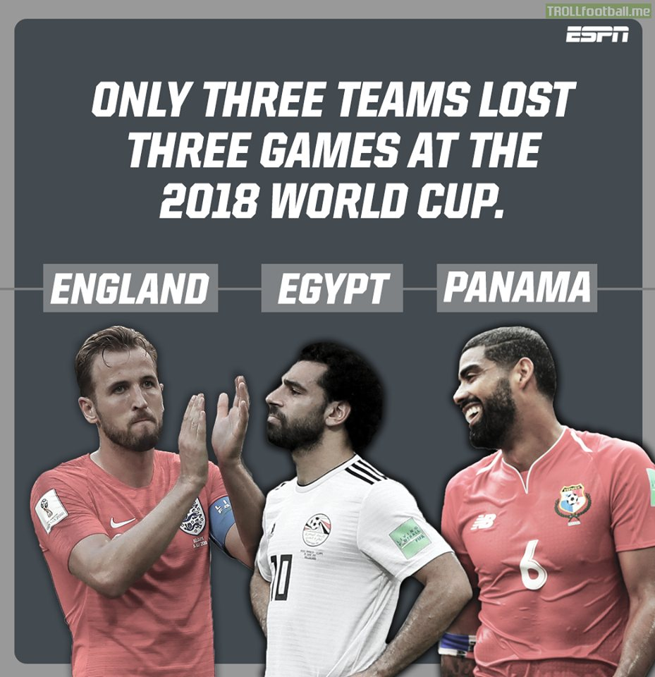 Only 3 teams lost 3 games at the World Cup