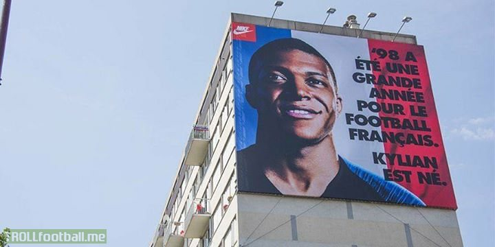"Brilliant Nike advert in Kylian Mbappe's hometown:  ""1998 was a big year for French football. Kylian was born.""  ⭐️🇫🇷⭐️"